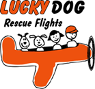 LUCKY DOG RESCUE FLIGHTS - ANIMAL RESCUE FLIGHTS - DOG RESCUE FLIGHTS - ANGEL FLIGHTS - CHARITY FLIGHTS - NFP